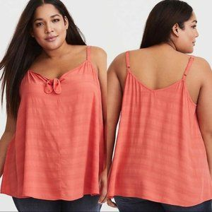 Torrid Orange Swing Cami Tank Blouse